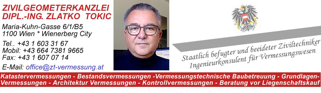 ZT Vermessungsbüro – Zivilgeometerkanzlei Dipl.-Ing. Zlatko Tokic – Wien